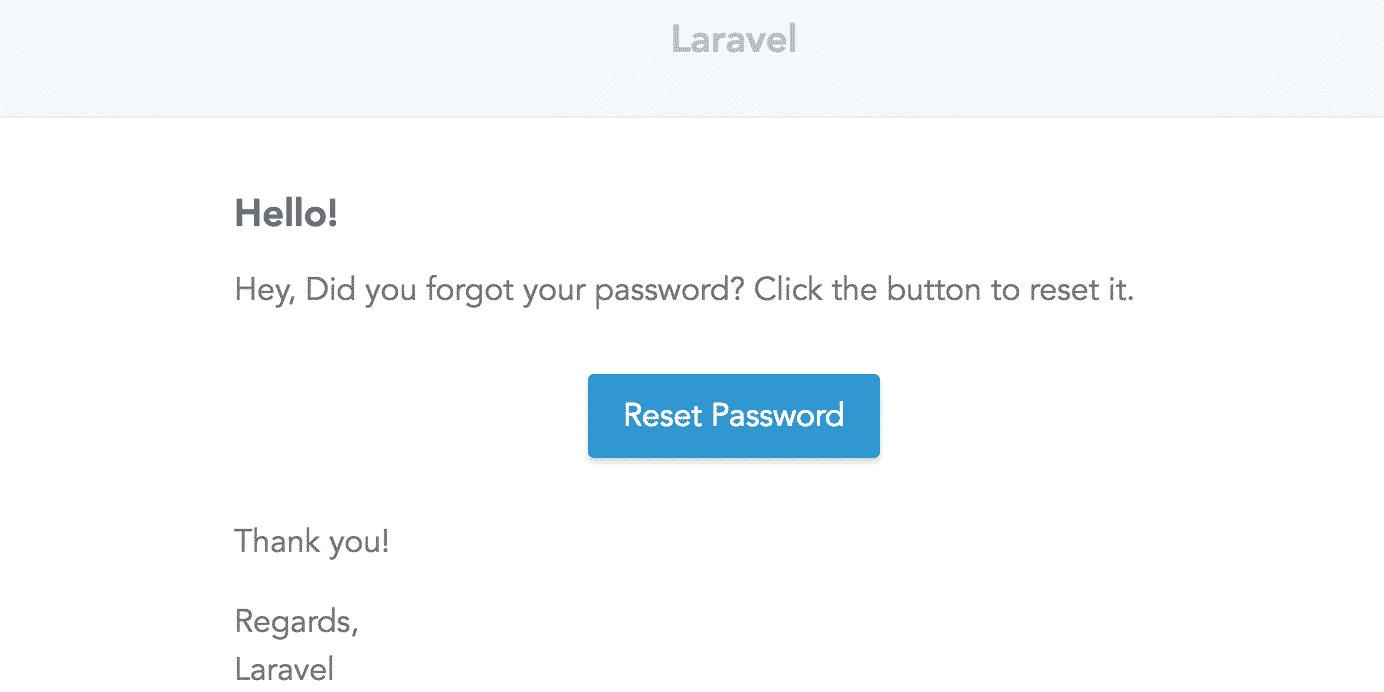 Modify Password Reset Email text in Laravel - The Web Tier